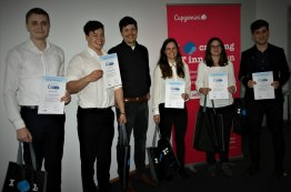 Das Team der Rosenheimer Wirtschaftsmathematik-Studierenden, das bei Capgemini den 2. Platz belegte
