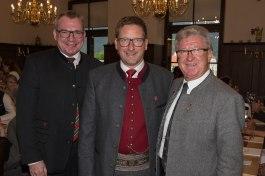 LRT J.Tratter, Obmann TVM P.;Margreiter, F. Hitzl (Sprecher/ Tiroler Traditionsforum)