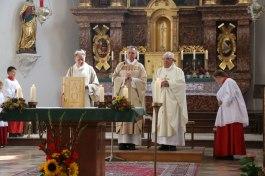 Diakon i.R. Hans Weber, Pfarrer Paul Janßen und Pfarrer i.R. Johann Weindl