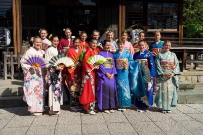 Foto Kimonoanprobe