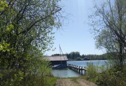 Bootshaus auf Sassau