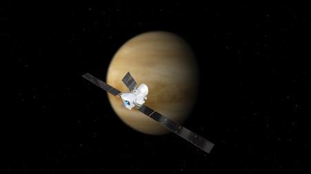 Erster Venus-Vorbeiflug von BepiColombo auf dem Weg zum Merkur (Credit: ESA/ATG medialab)