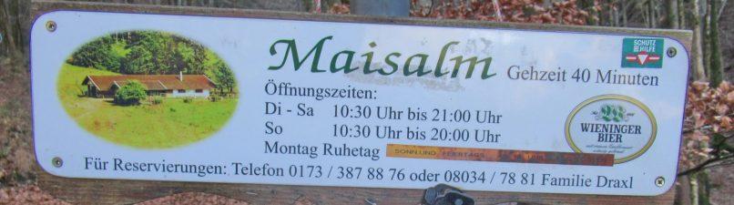 Maisalm-Hinweis