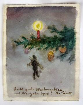 Weihnachtskarte Rudolf Sieck