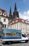 Der Truck vor dem Regensburger Dom St