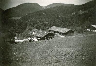 Das Marosen-Lehen in den 1930er/1940er Jahren. Bildquelle: Bezirk Oberbayern, Archiv FLM Glentleiten.