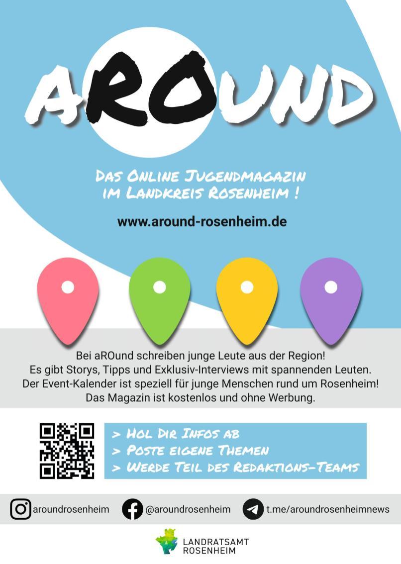 aROund_das Online Jugendmagazin im Landkreis Rosenheim_Plakat (1)