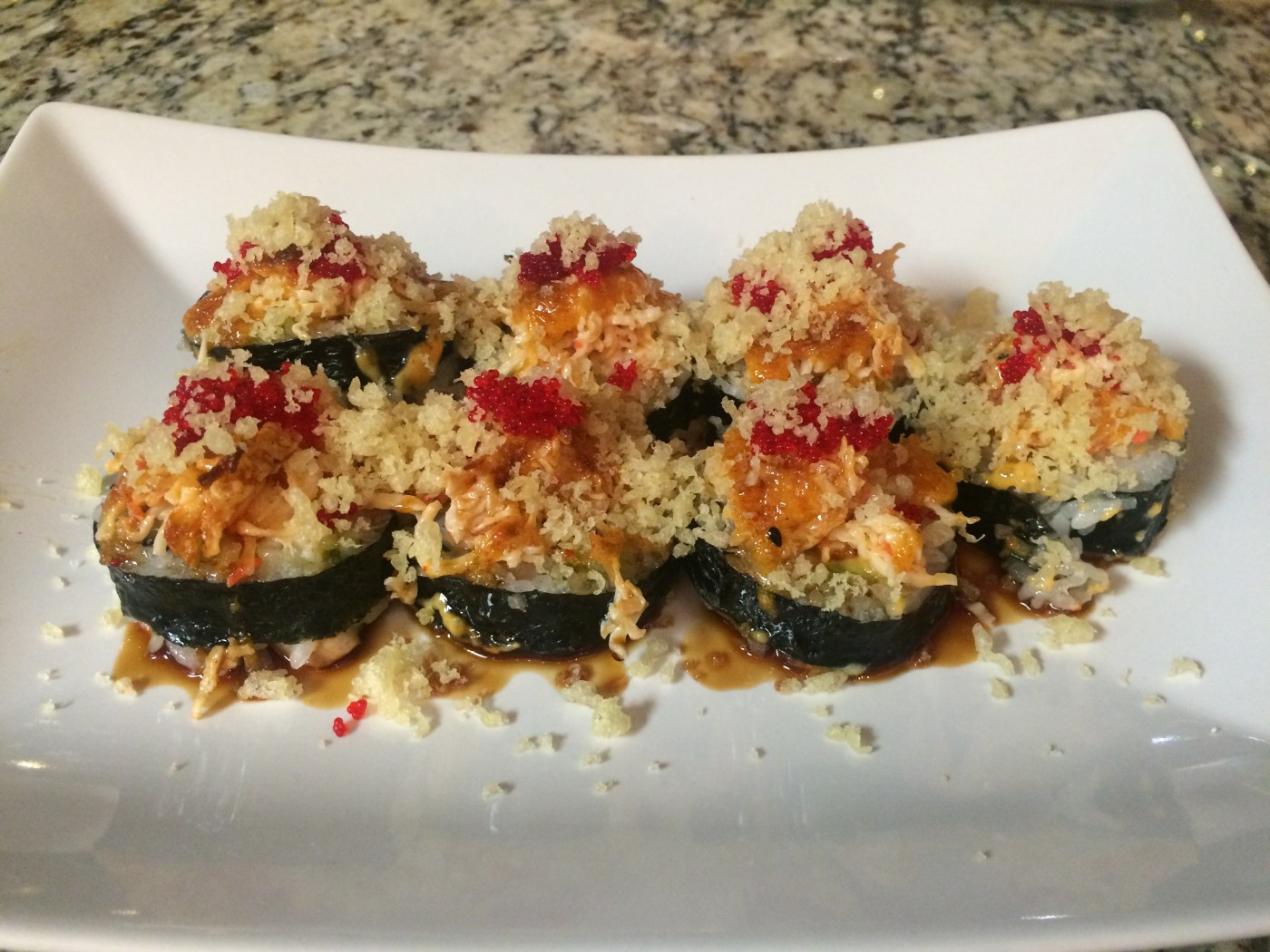 Volcano Roll chefs creation.