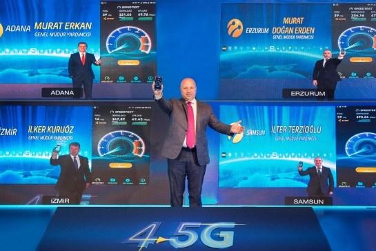 Turkcell 4.5G Şebekeleri 81 İlde Hazır