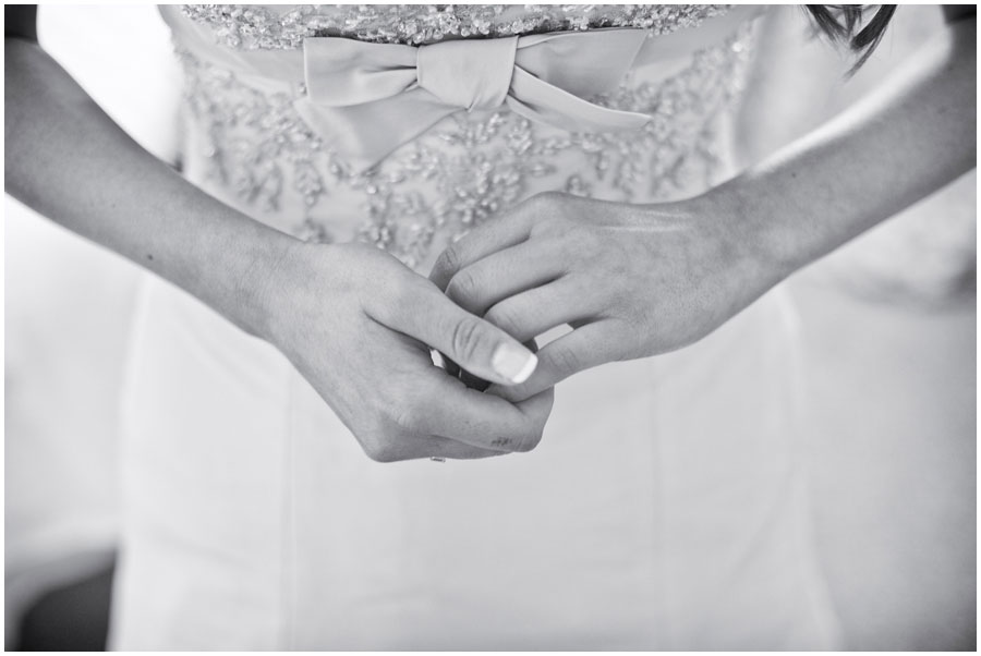 River Cottage Wedding Photography bride's clasped hands