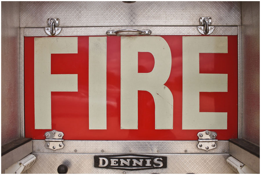River Cottage Wedding Photography fire engine signs
