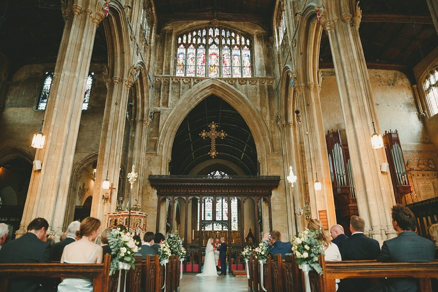 wedding at cirencester church