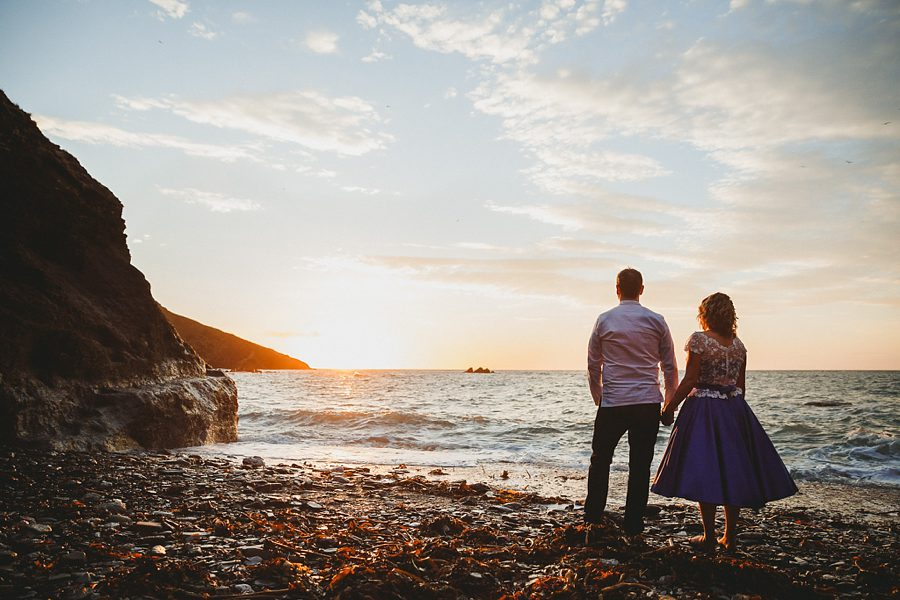 tunnels beaches wedding sunset