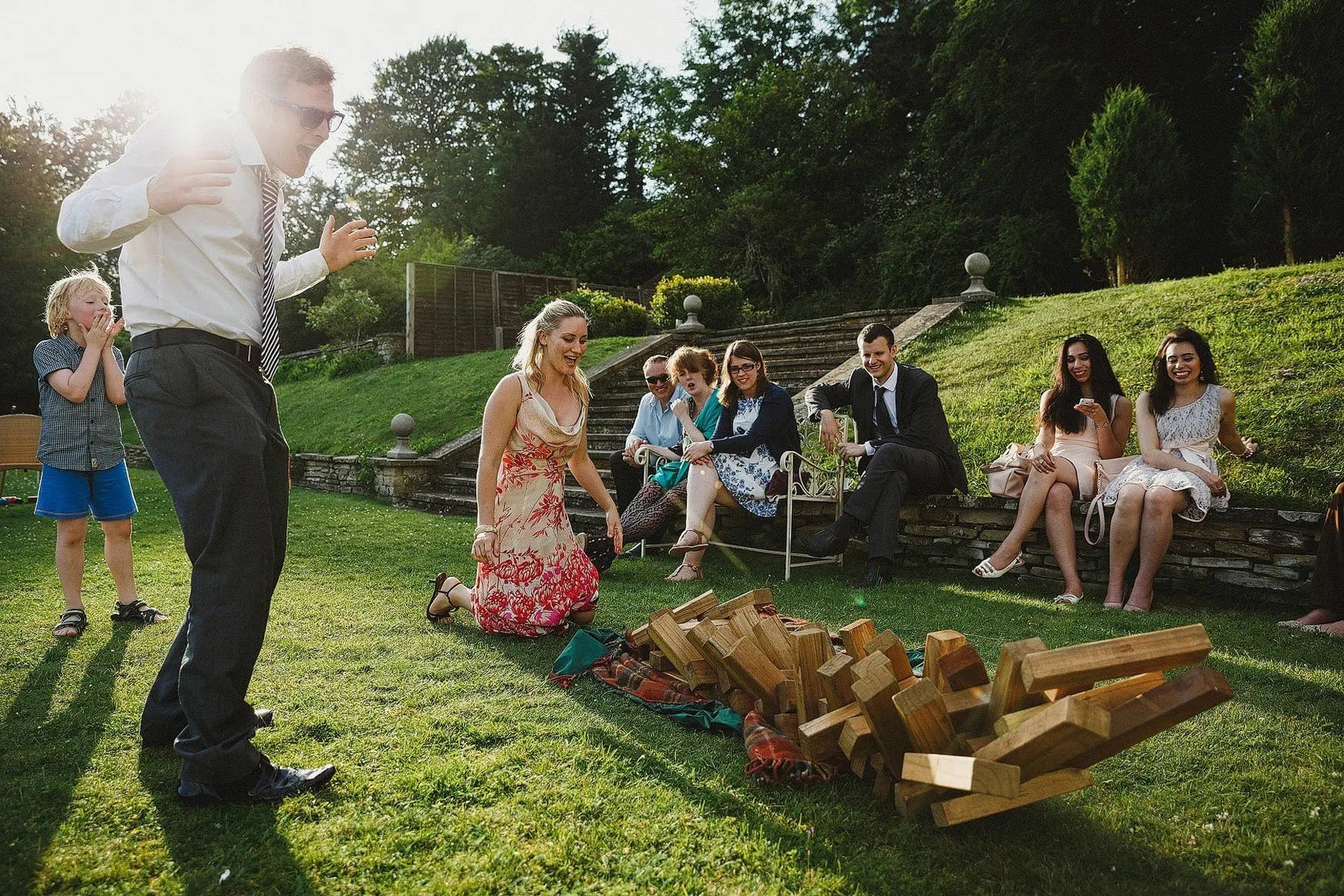 jenga at weddings