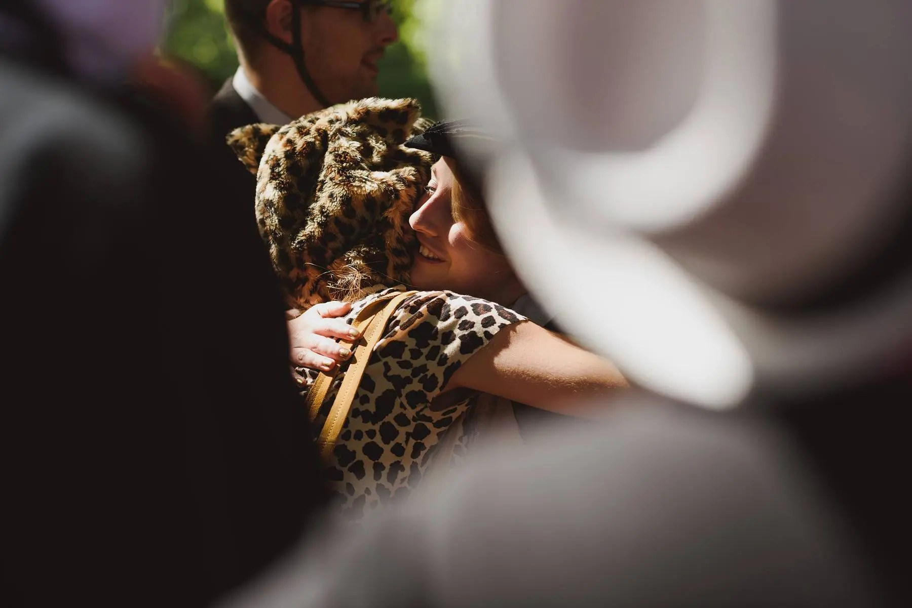 wedding guest dressed as a cheetah