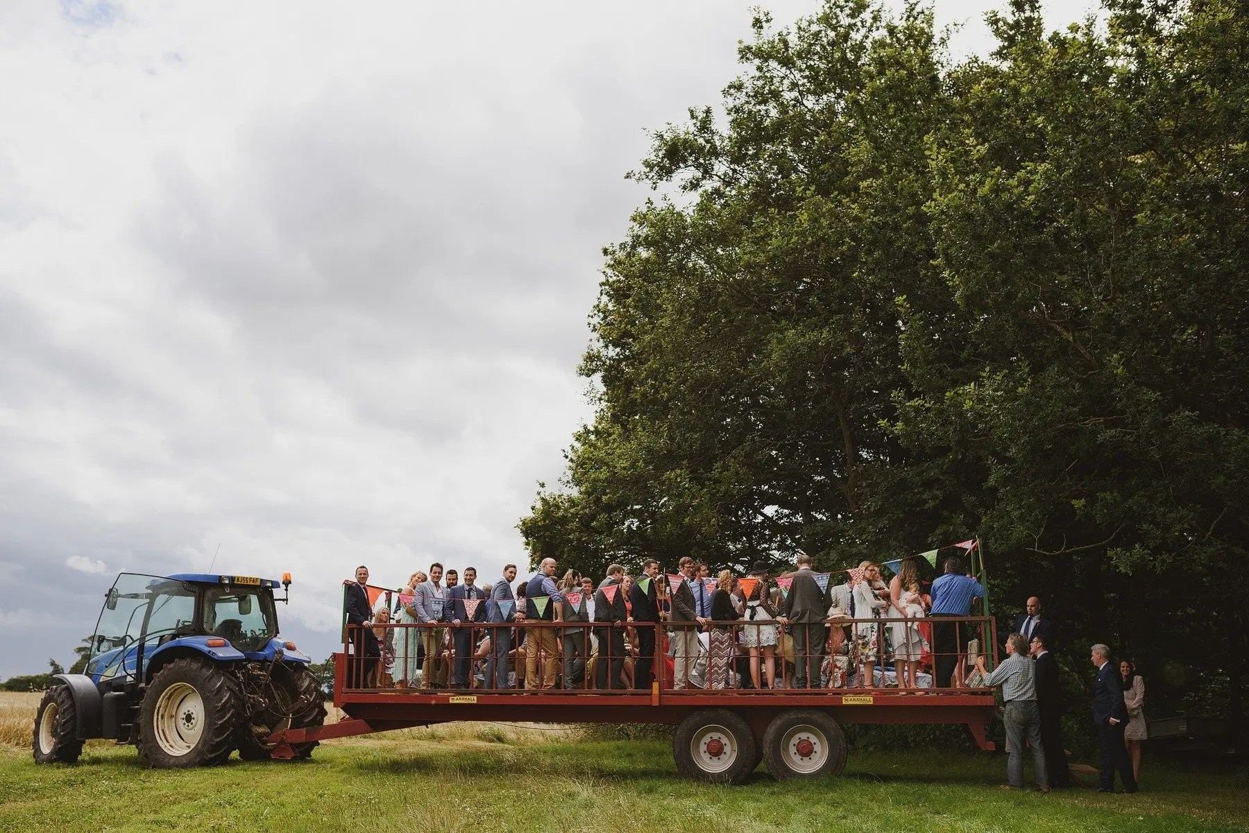 wedding tractor at huntstile farm