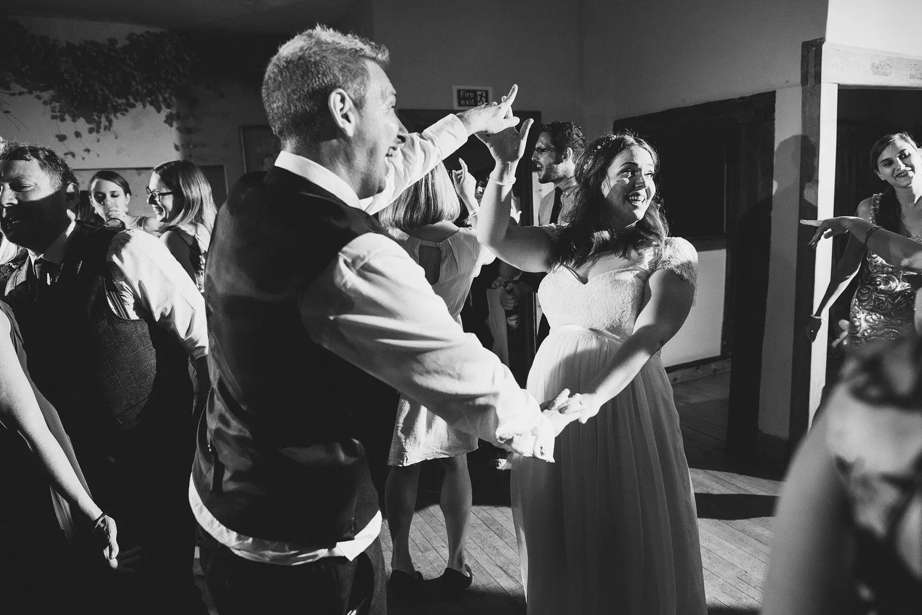 bride and groom dancing at somerset wedding