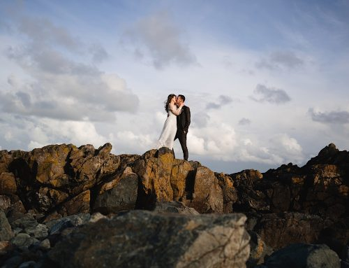 A winter elopement in St Ives, Cornwall