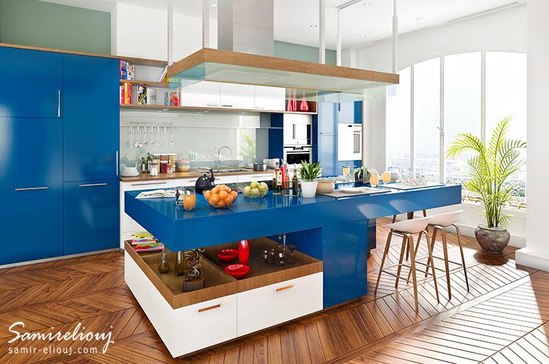 cuisine moderne 3d salle de bain 3d