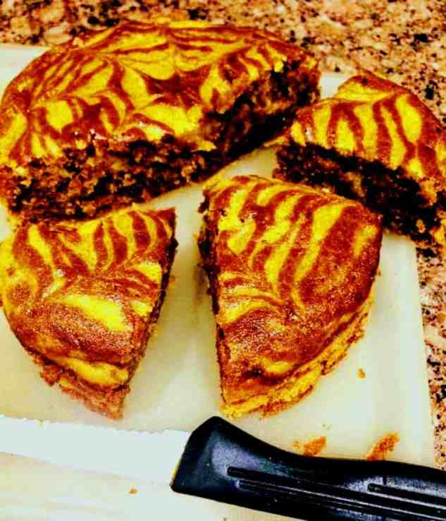 Mango Chocolate Cake, TIGER CAKE-  Eggless Mango Chocolate Cake with Wheat Flour