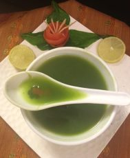Spinach Soup... Clear Soup, Light and Healthy