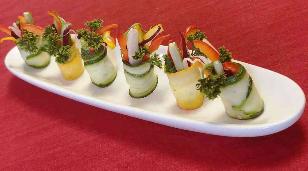 Zucchini Salad Rolls