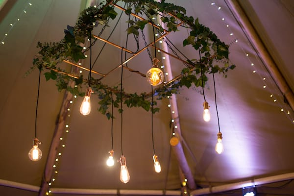 Copper Lighting Chandelier | Available to hire for your Sami Tipi Event