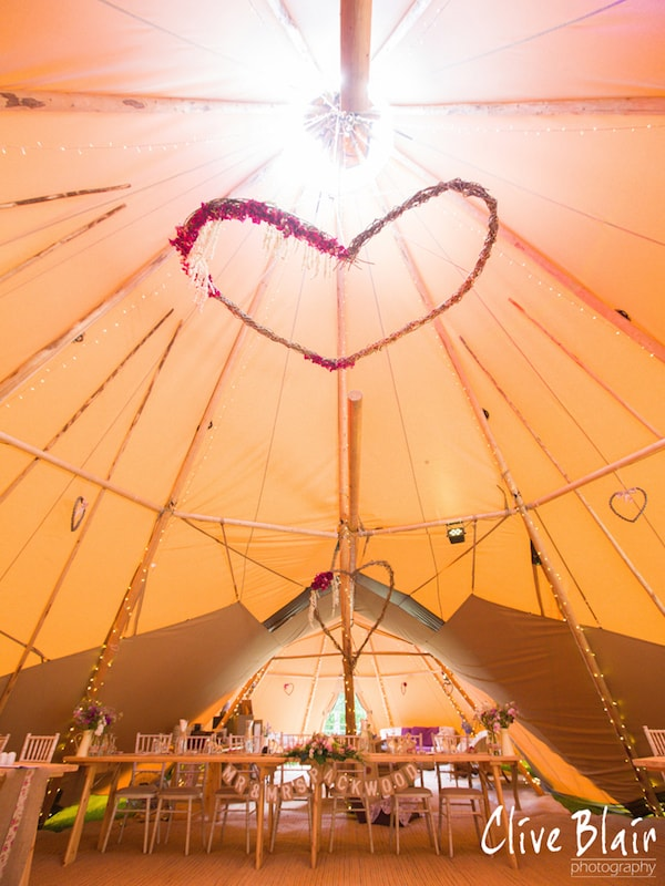 Hanging Decorations - Sami Tipi Wedding captured by Clive Blair