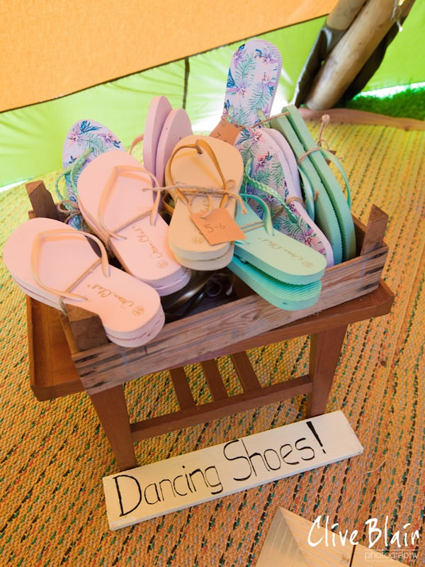 Basket of Dancig Shoes - Sami Tipi Wedding captured by Clive Blair