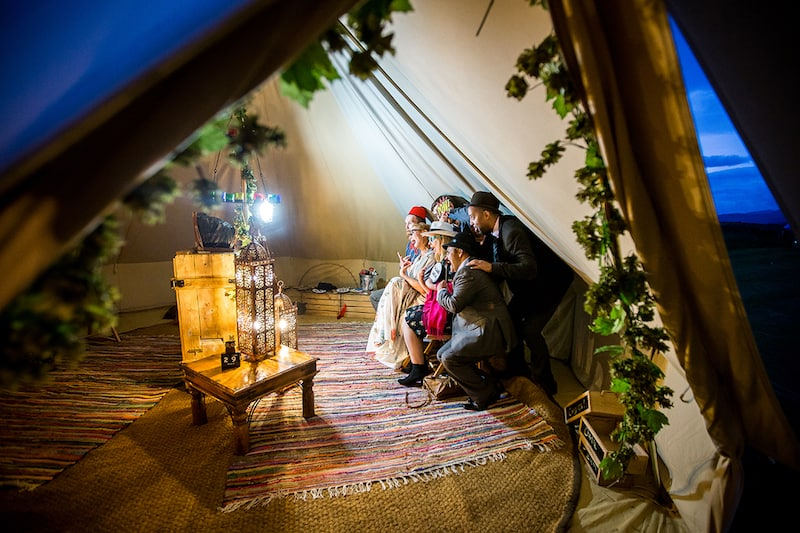 The Bell Tent Booth 2