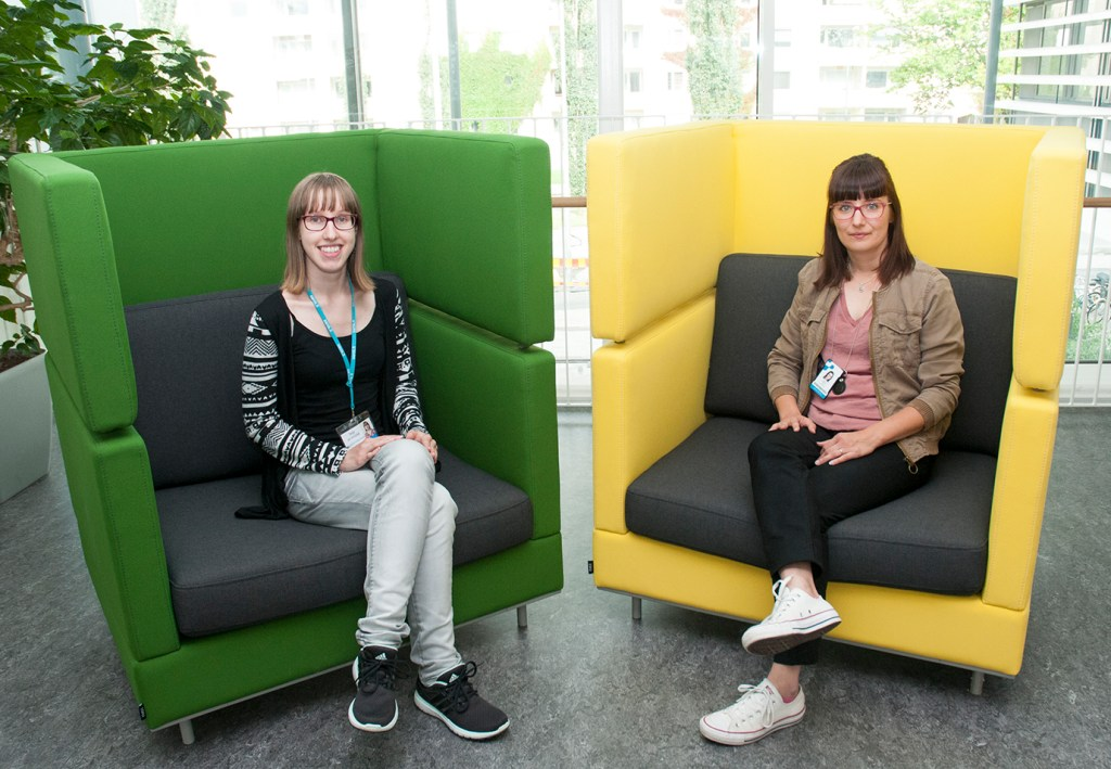Energy and environment technology student Teija Järvenpää and teacher Riitta Dersten promoted climate partnership with City of Pori. It's a part of environment office's Satahima-project.