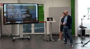 Anni Koivisto Akavan opiskelijoista ja Jesse Kankanen STTK:n opiskelijoista vetivät session opiskelijan kampusunelmista AMK-päivillä Porissa 17.5.2018
