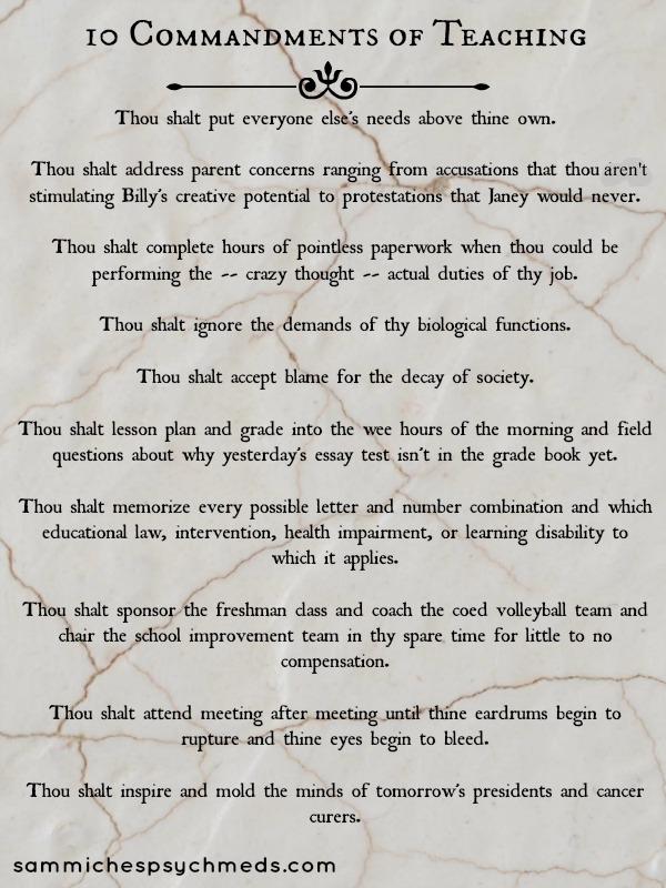 10 Commandments Of Teaching 2