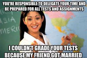 unhelpful teacher meme grading