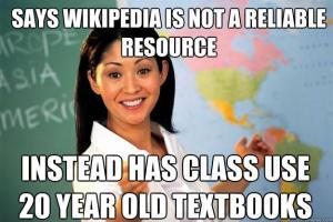 unhelpful teacher meme wikipedia