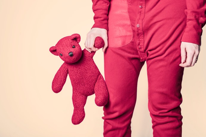 pajamas and teddy bear