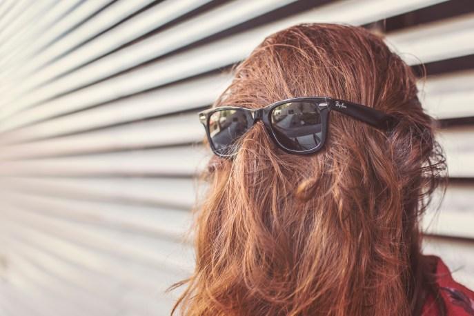 girl sunglasses hair