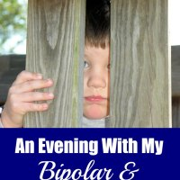 Having a son with both bipolar disorder and autism isn't easy. One mother shares her story of an evening with her son, the struggles that accompany her daily life, and why she feels so lucky to be his mother.