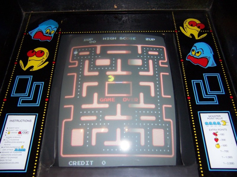 Running around frantically, chasing a tiny thing with its mouth hanging open... Yeah, being a new mom is a lot like playing Pac-Man.