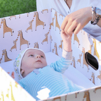 Parents are putting their babies in cardboard boxes