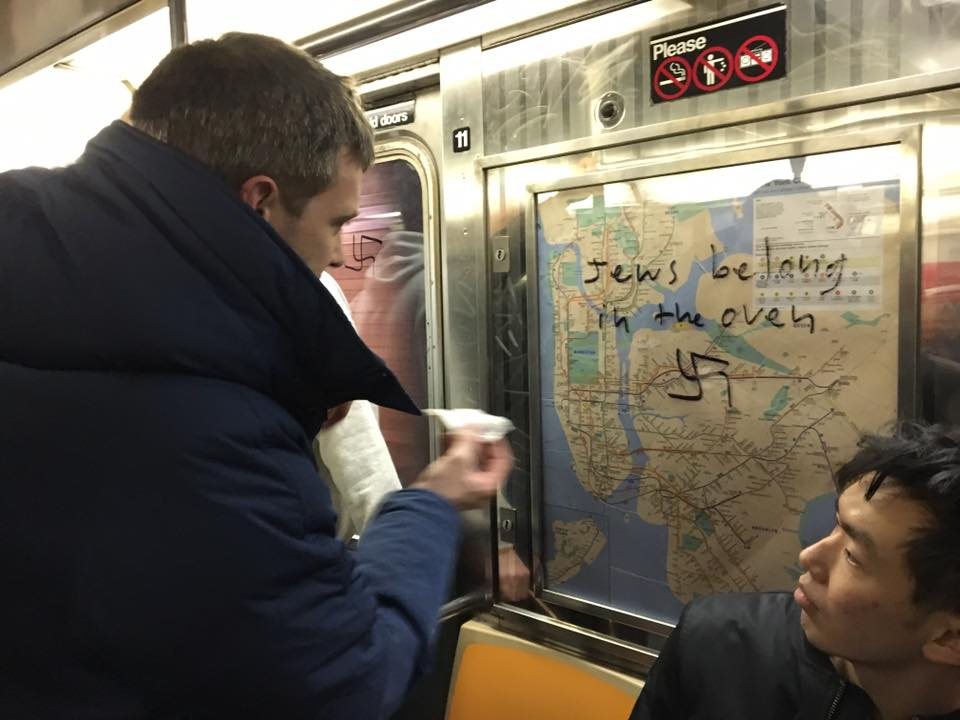 Viral Post Shows New Yorkers Working Together to Remove Hateful Graffiti