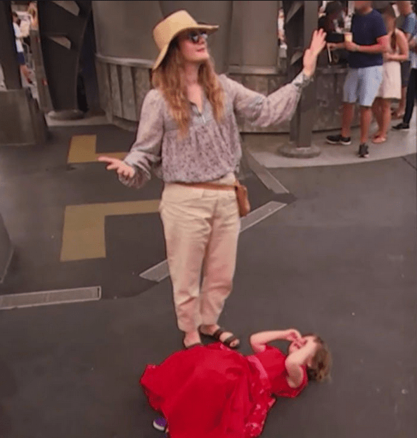 Drew Barrymore and daughter at Disney World