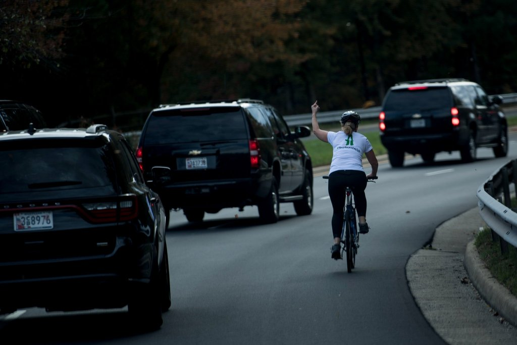 Woman Fired For Flipping Off Trump's Motorcade