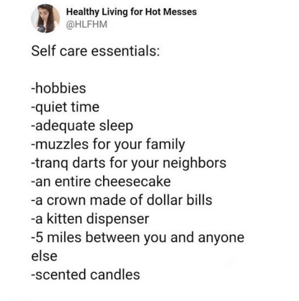 self care memes for moms for Sammiches and Psych Meds by Healthy Living for Hot Messes