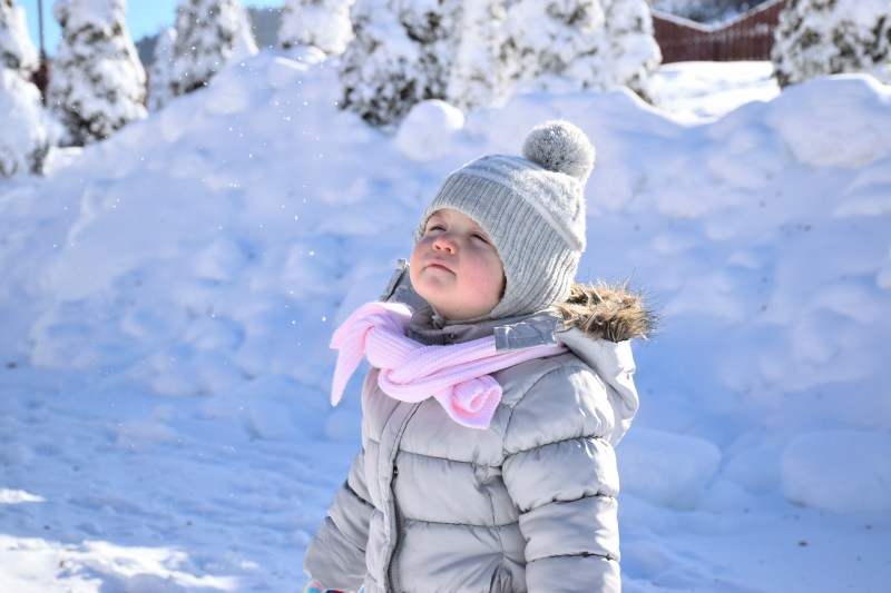 Decide it's best to keep your toddler in their snowsuit for the remainder of winter.