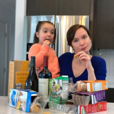 Since we are all stuck inside for what might seem like eleventy billion years, it's best we all stock up on Girl Scout Cookies and wine, right?