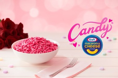 Pink candy-flavored macaroni and cheese by Kraft interesting weird news by Sammiches and Psych Meds