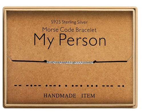 my person morse code bracelet valentine's day gift guide Sammiches and Psych Meds