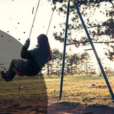 adult woman swinging