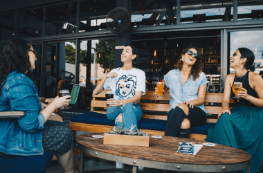 It's finally summer and you're exactly where you want to be: in a crowded, dingy bar eating overpriced garbage and drinking watered down whiskey.